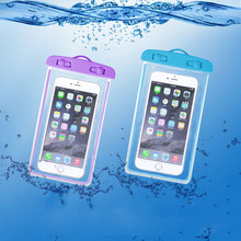 Swimming Bags Waterproof Bag with Luminous Underwater Pouch Phone Case For iphone 6 6s 7 universal all models 3.5 inch -6