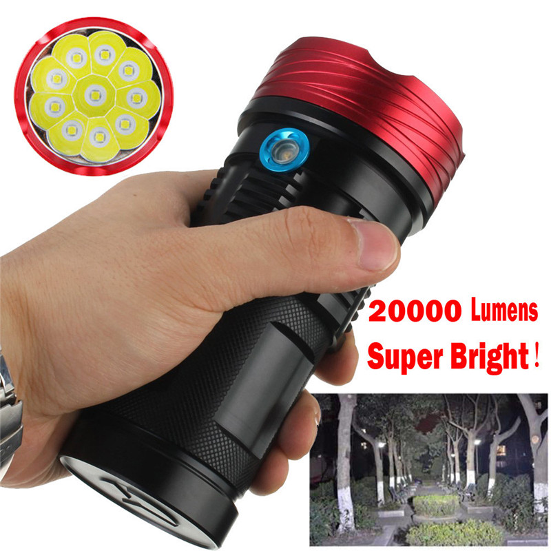 snowshine2#4001Bicycle Bike Light 20000Lumen 10x XML T6 LED 3 Modes Flashlight Torch Tactical Hunting Lamp Sturdy And Durable