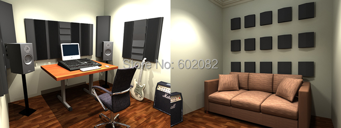 Free Shipping Acoustic Foam Sound For Soundproofing Studio In Box Private Custom
