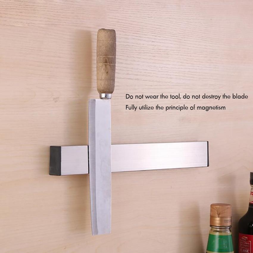 31cm Self-adhesive Magnetic Knife Strip Stainless Steel Knife Storage Bar Rack Metal Knives, Utensils And Kitchen Sets Holder