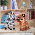 Новые Симпатичные 28 см Мультфильм Мадагаскар Жираф Зебра Лев Плюшевые игрушки мягкий Лесные Животные Куклы Детские игрушки Дети Праздничные Подарки Хорошее качество