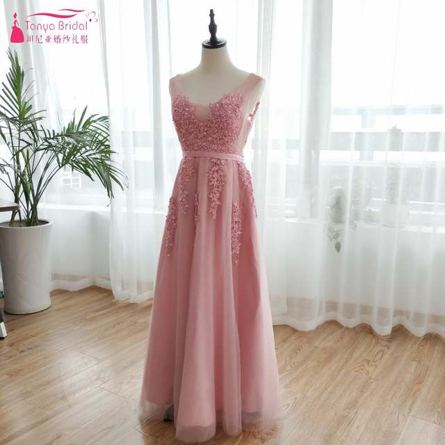 9a6ec96faaa Navy Blue Pink Grey V Neck Long Lace Appliques Prom Dresses Tulle A Line  Gray Red
