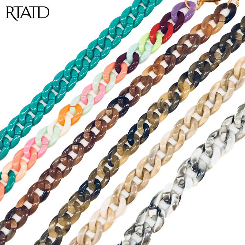 RTATD Plastic Women Handbag Strap Chic Lady Shoulder Bag Belts 35cm Handle For Women Bags K001