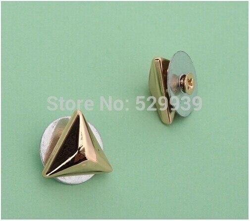 3fb5d7e27d 12*5 millimetri triangolo testa oro borchie per punk borse  hardwaredecorative rivetto vite per pelletteria