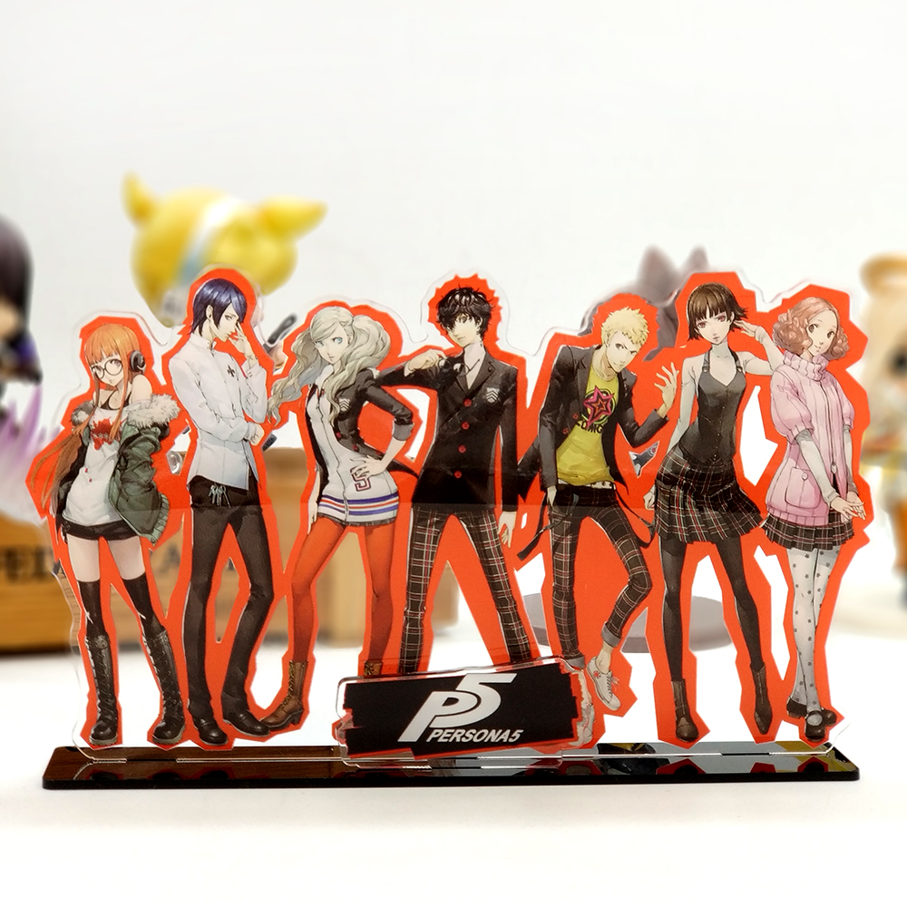 Love Thank You Persona5 P5 Hero Ryuji Anne Yusuke family acrylic stand figure model plate holder cake topper anime game