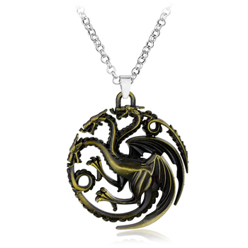 Game of Thrones necklace Stark family lion wolf dragon deer Lannister Targaryen Stark Baratheon Arryn Greyjoy family members 2