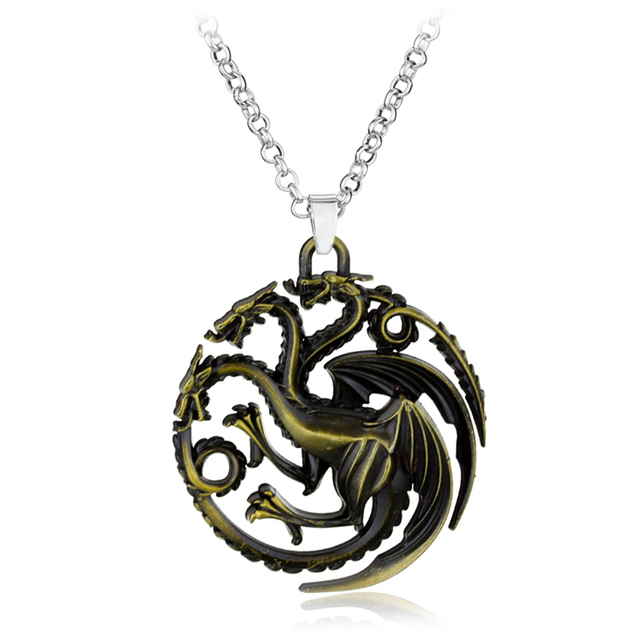 Game of Thrones necklace Stark family lion wolf dragon deer Lannister Targaryen Stark Baratheon Arryn Greyjoy family members 2