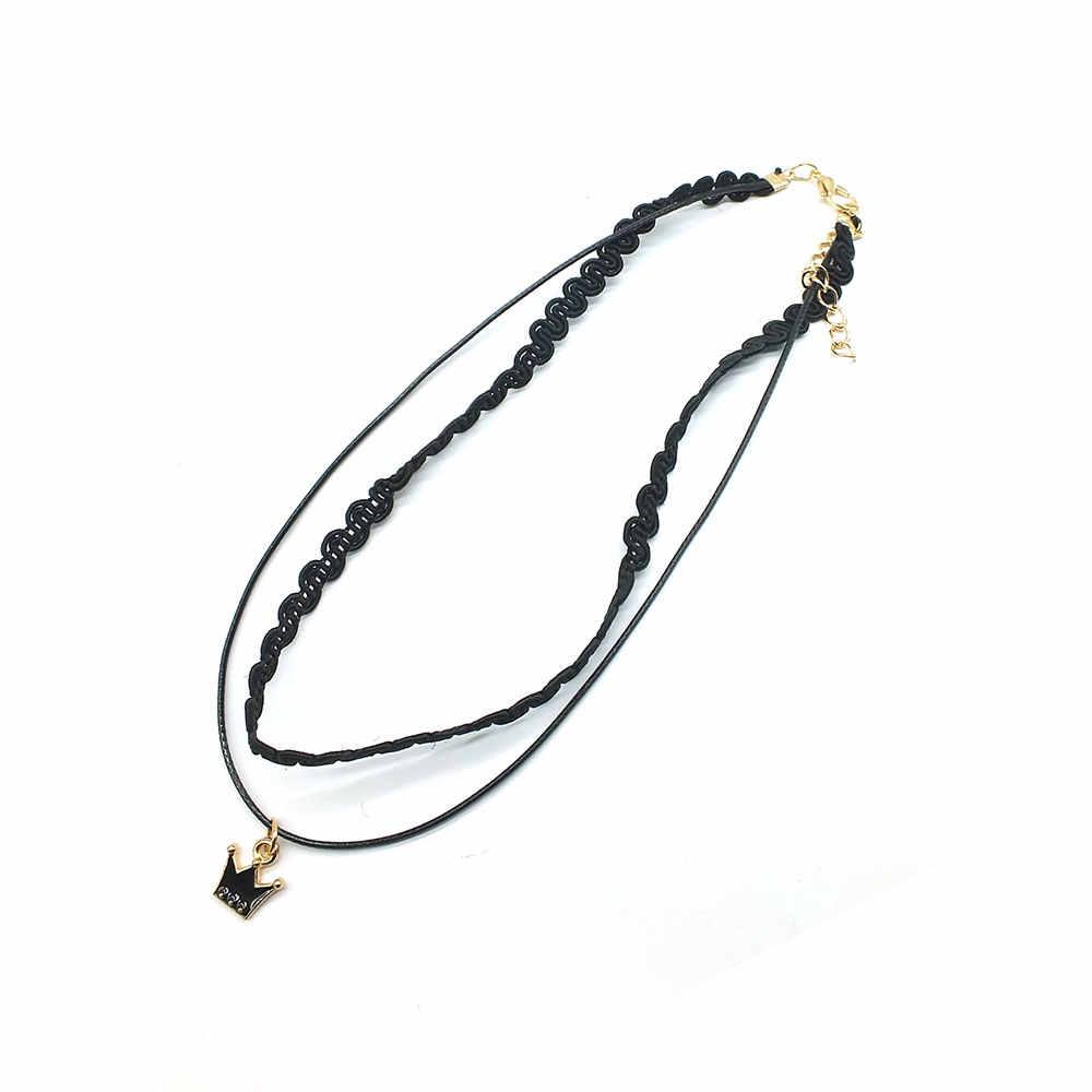 ZOEBER طبقات المختنق قلادة الأسود الدانتيل الجلود المخملية قطاع امرأة طوق حبل مجوهرات الرقبة الاكسسوارات المختنقون مجوهرات
