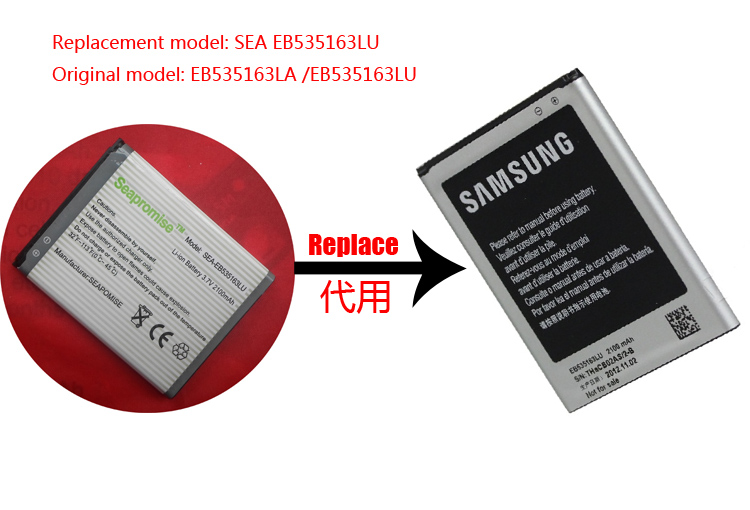 Retail Mobile Phone Battery EB535163LU Battery For SAMSUNG GT-i9082,GT-i9060,GT-i9168i,GT-i9080,GT-I9128,GT-I9128V