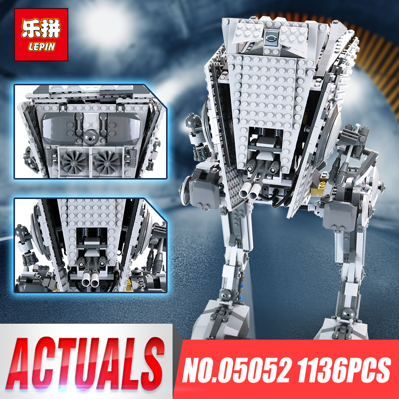 цены Lepin 05052 Star The Empire AT-ST Robot Building Blocks Bricks Set Wars Toys For Children Gift Compatible legoinglys 10174 Gifts