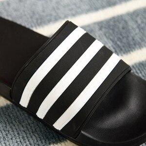 Image 2 - ASIFN Mens Slippers EVA Men Shoes Women Couple Flip Flops Soft Black White Stripes Casual Summer Male Chaussures Femme Slides