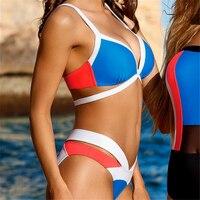Ariel Sarah Swimsuit Sexy Push Up Bikinis Patchwork Color Bikini Women's Swimsuit Set Bathing Swimwear maillot de bain