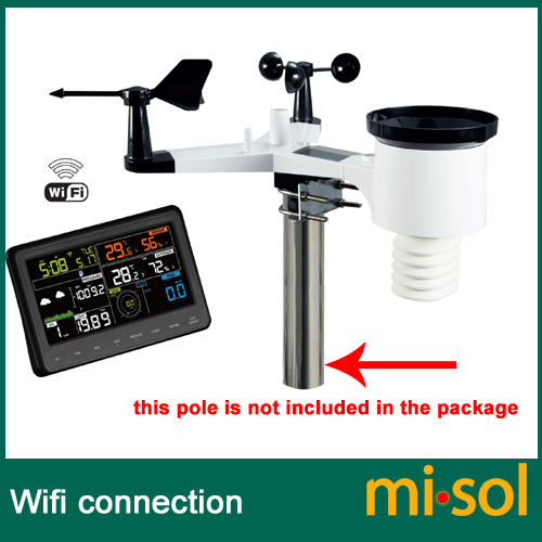 Sans fil station météo se connecter au WiFi, télécharger des données à web wunderground