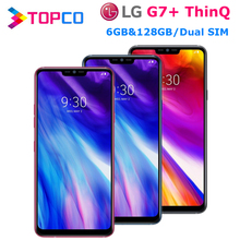 LG G7 Plus G7+ ThinQ G710EAW, 128 Гб ПЗУ, 6 ГБ ОЗУ, разблокированный LTE Android, две sim-карты, Восьмиядерный процессор Snapdragon 845, 6,1 дюйма, двойной 16 МП, NFC