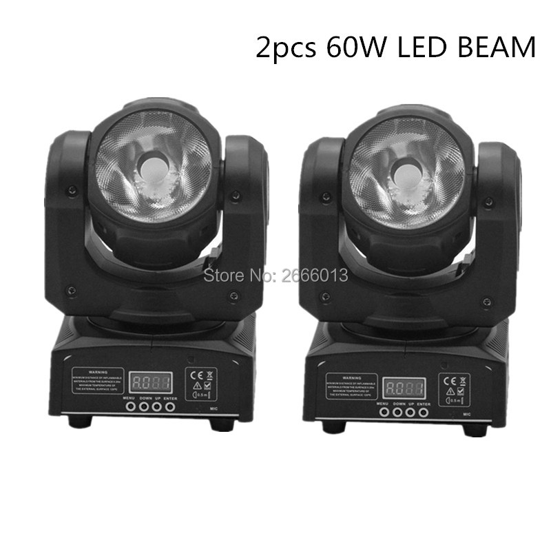 2pcs/lot Super Beam Led Moving Head Light Beam 60W Led Lamp DMX512 RGBW 4in1 60W Stage effect Lighting linear beam DJ Lighting niugul dmx stage light mini 10w led spot moving head light led patterns lamp dj disco lighting 10w led gobo lights chandelier