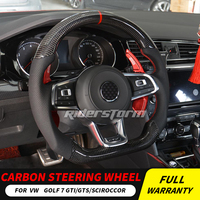 Carbon Fiber Steering Wheel For Golf 7 GTI Golf R MK7 Jetta Passat Polo GTI Scirocco 2014 2018 Replacement hot sale good quality