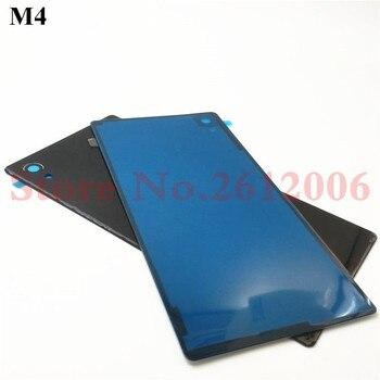 1 piezas para Sony Xperia M4 Aqua E2303 E2333 E2353 A de la batería de cristal, de vivienda puerta de la cubierta trasera de repuesto partes