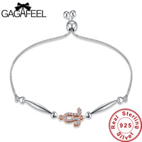 Gagafeel Newly 12 Zodiac Constellations Leo Bracelet Authentic 100 925 Sterling Silver Bracelets For Women Jewelry