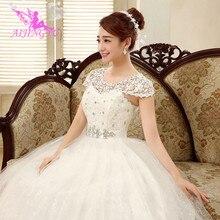 AIJINGYU 2021 진짜 사진 새로운 뜨거운 판매 싼 볼 가운 레이스 공식적인 신부 드레스 웨딩 드레스 WK321