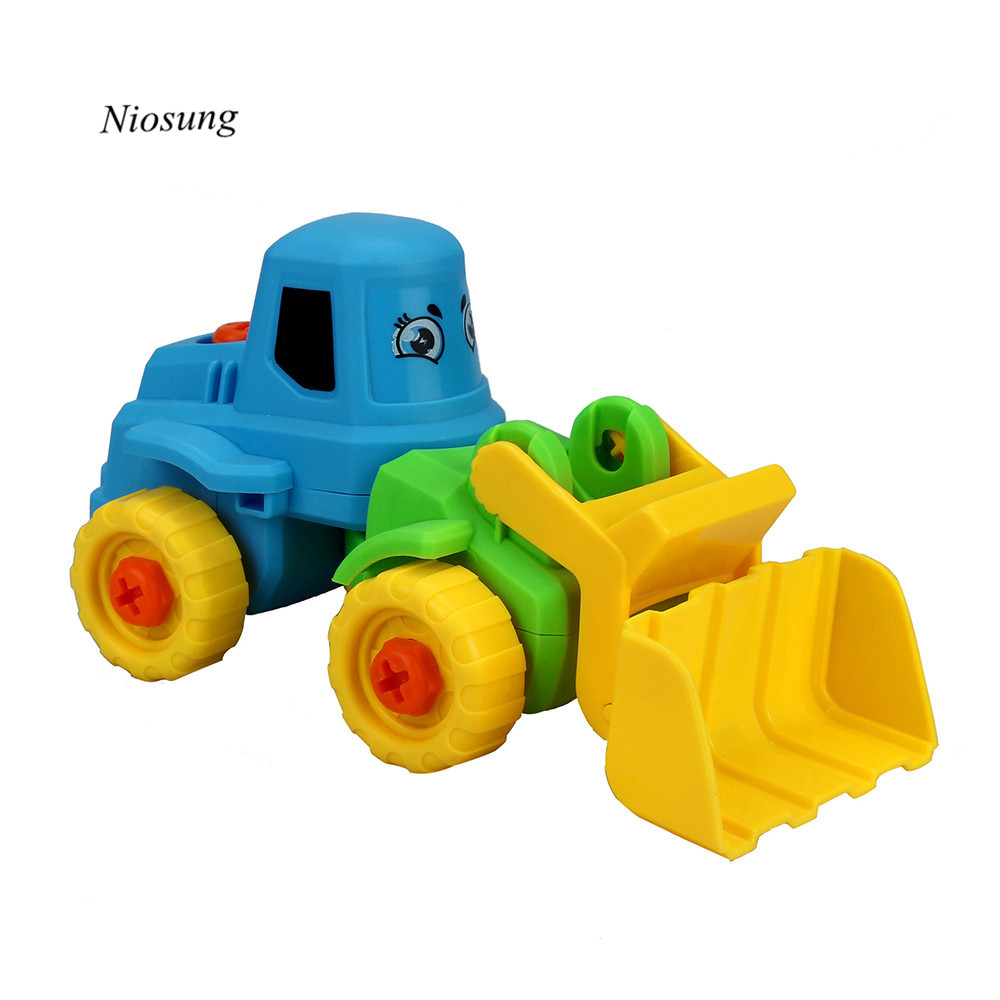 New Arrival 2PC Fashion Kids Child Baby Disassembly Assembly Cartoon truck Car Baby Kids childreds toys