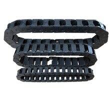 7×15 10×10 10×20 15×30 мм 1000 мм черный пластик Towline гибкий кабель-канал Перевозчик с концевыми разъемами для станков с ЧПУ