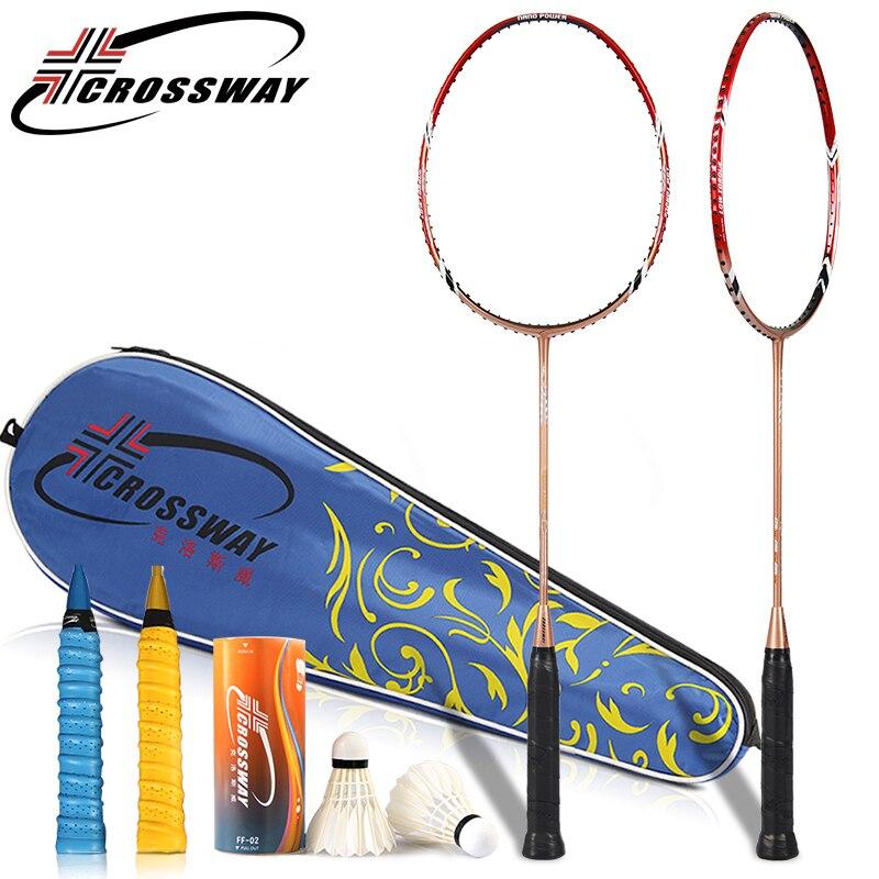 CROSSWAY 2017 1PC New badminton racket amateur intermediate senior badminton racquet raquette de badminton raquetes outdoor sk70