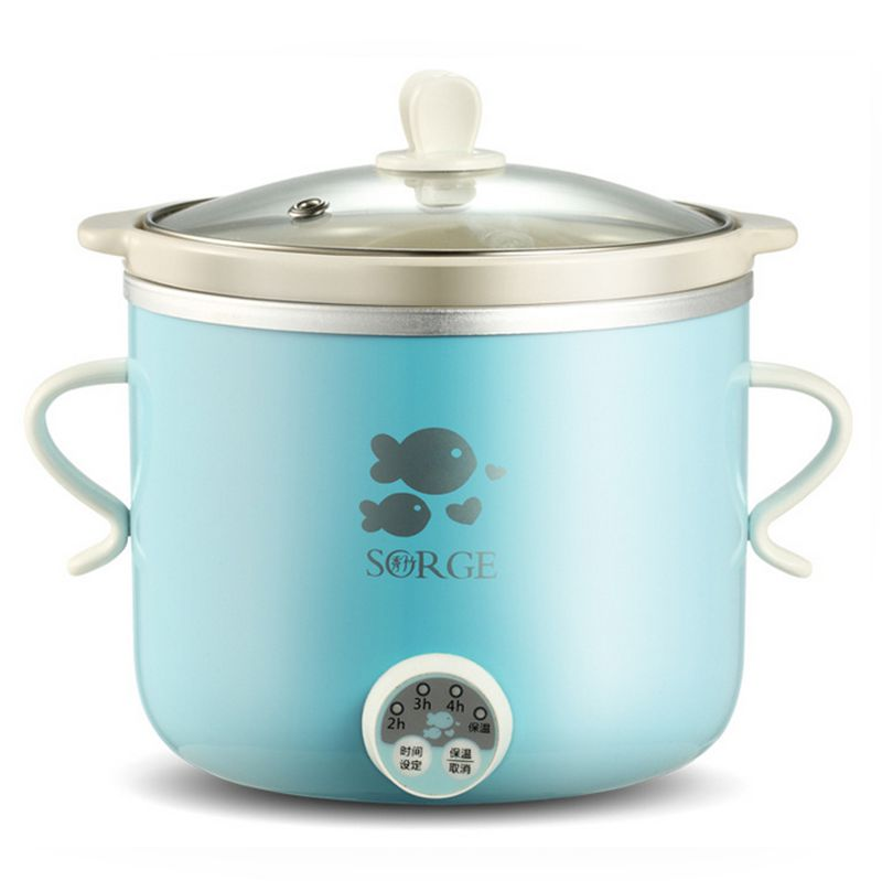 Digital timer 100W home kitchen appliance mini slow cooker 0.8L