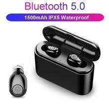 X8 TWS Bluetooth Earphone 5D Stereo Wireless Earbuds headset Mini TWS Waterproof Headfrees with Charging Box 2200mAh Power Bank bt4 1 x2 tws earbuds true wireless bluetooth mini headphones sport stereo earphone hansfree headset with charging box power bank