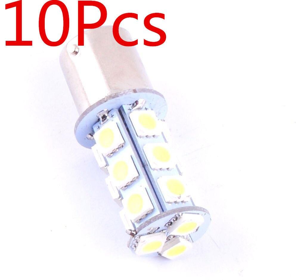 Rv Interior Led Light Bulbs: 10pcs 1156 BA15S 5050 18SMD LED Light Bulbs Interior RV Camper White 7506  1141 8z1463,Lighting