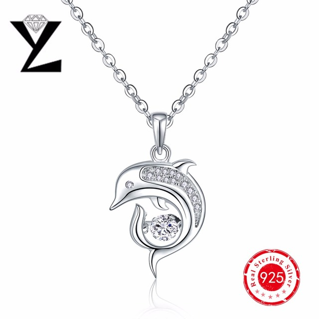 Fine Jewelry Personalized Womens Multi Color Cubic Zirconia Sterling Silver Pendant Necklace BmRfXVll6