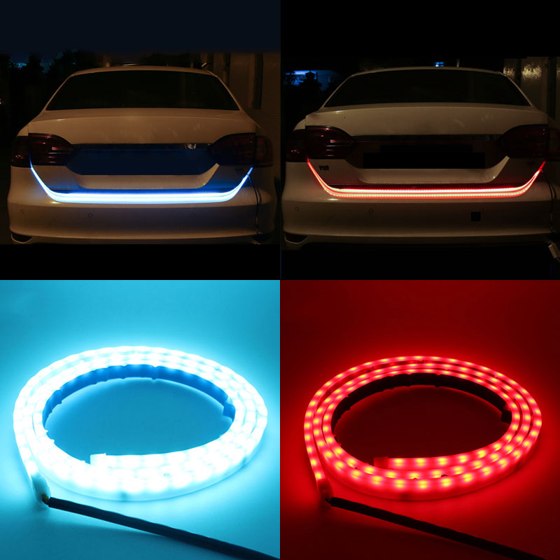 36inch 48inch 60inch 5 Functions Flowing Type <font><b>Tail</b></font> Box Trunk Luggage LED Light Strip Tailgate Turn Signal Brake Streamer Light