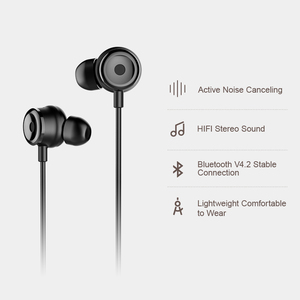 Image 3 - Baseus S15 Active Noise Cancelling Bluetooth Earphone Wireless Sport Earphones ANC Earphone with Mic for Phones and Music