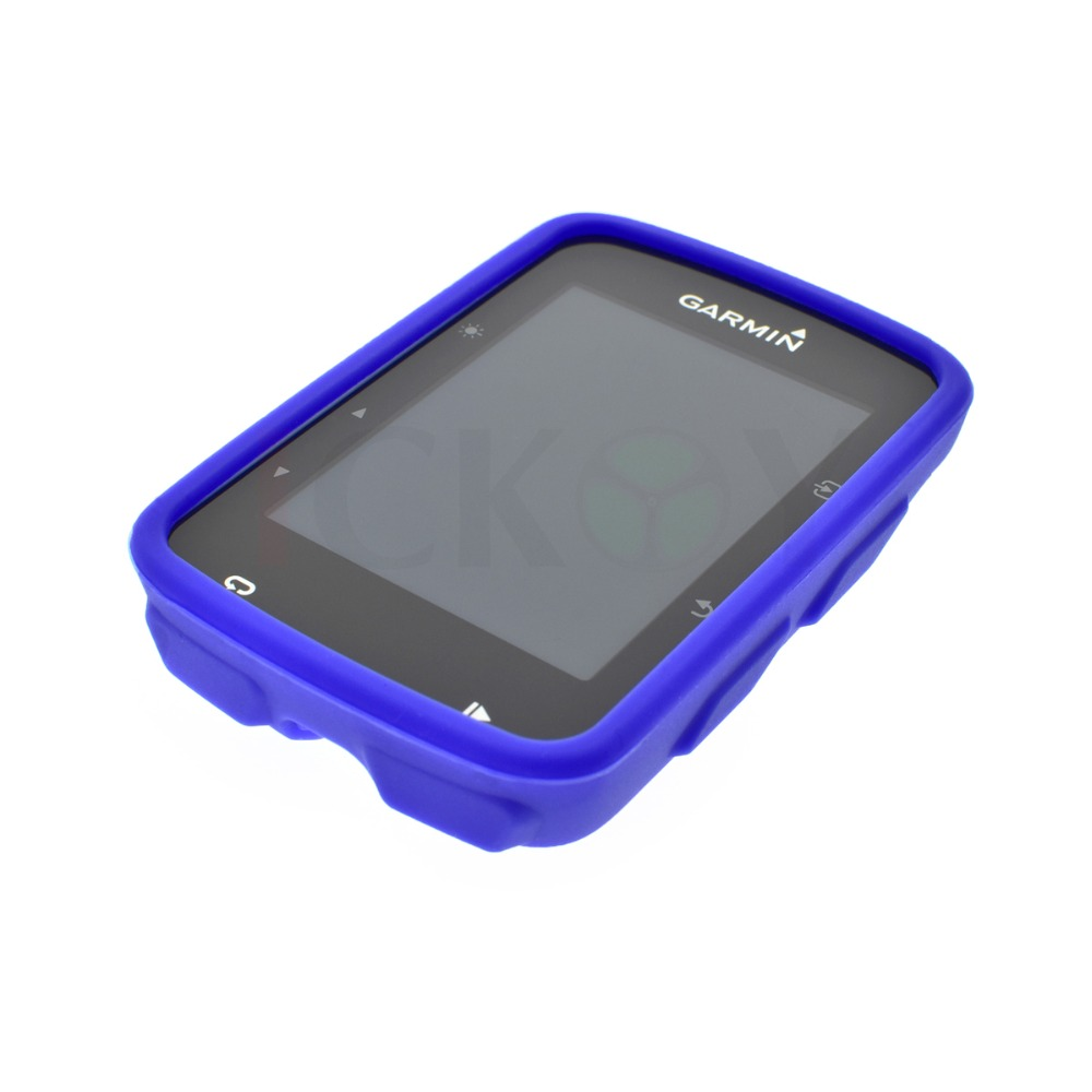 Outdoor estrada   Mountain Bike caso Road Bike borracha azul caixa Anti  Knock caso para ciclismo Computer Garmin GPS borda 520 e7ec436ffc