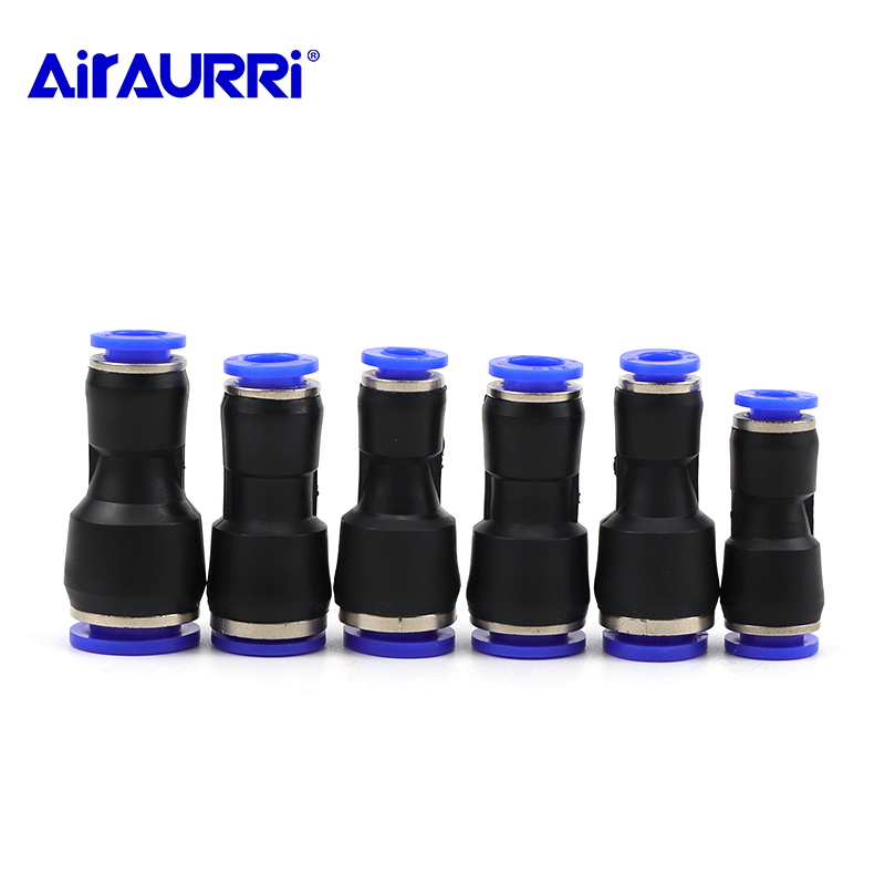 """10Pcs 3//8"""" Tube OD Plastic Pneumatic Push to Connect Straight Quick Fittings"""
