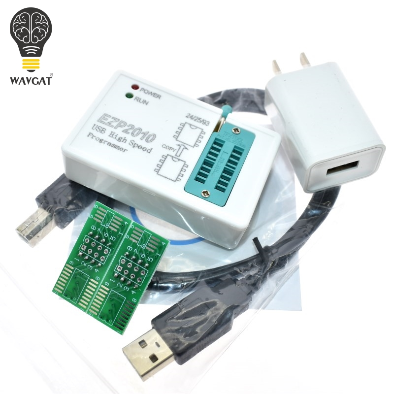 WAVGAT  EZP2010 High-speed USB SPI Programme + IC Test Clips Socke Support 24 25 93 EEPROM 25 Flash BIOS Chip
