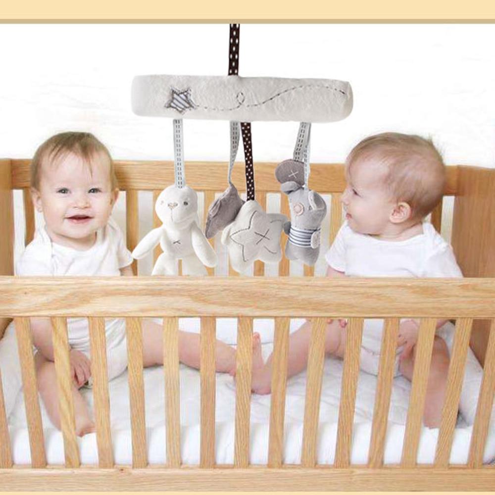 Newborn Baby Kids Rabbit Star Music Plush Toy Crib Cot Pram Bed Stroller Hanging