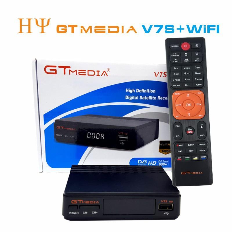 5/10 stücke GTMEDIA V7S HD + WIFI Antenne DVB S2 HD Youtube PowerVU CLINES Newcamd satelliten receiver Set top box besser freesat v7 - 2