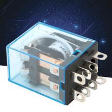 10pcs LY2N-J 5A AC/DC 8Pin Zilver contact DPDT Elektromagnetische Coil Power Relay(China)