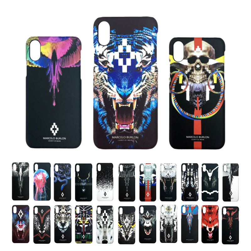 Cover Marcelo Burlon skull iPhone 8