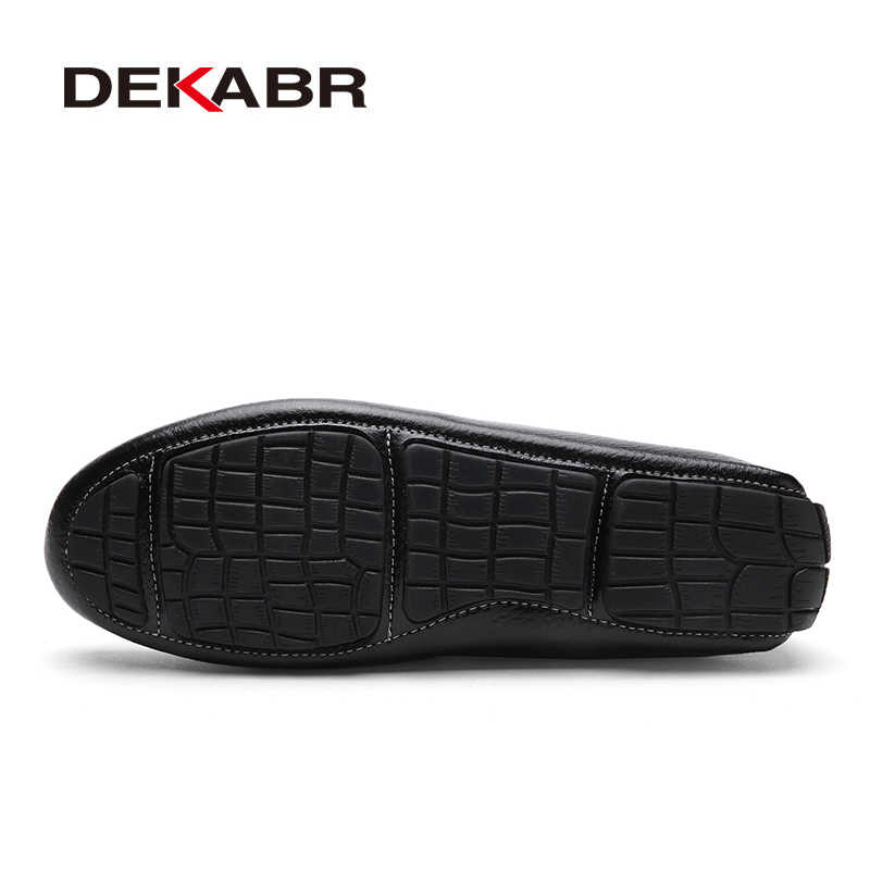 DEKABR Fashion Brand Men Shoes Luxury Men Pu Leather Shoes Casual Men Shoes Male Quality Flats Slip On Loafers Plus size 38~47