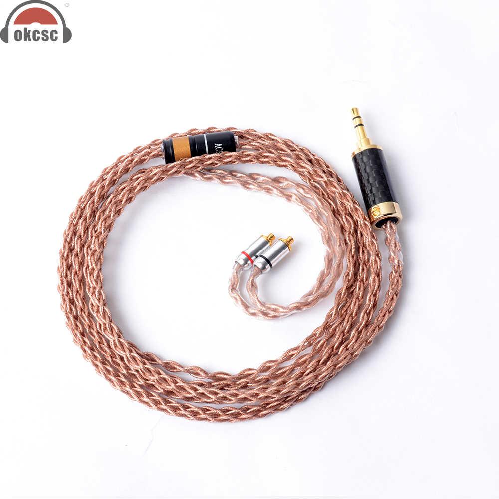 <b>OKCSC</b> 2,5 мм балансный кабель <b>MMCX 8 Core</b> DIY Замена ...
