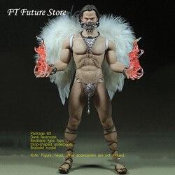 Darmowa wysyłka 1/6 skala figurka mężczyzny ubrania zestaw diabeł anioł garnitur Model dla 12