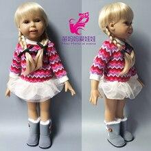 25 28 CM kafa boyutu Bebek Saç örgüler 18 inç Kız Bebek DIY Aksesuar peruk Değiştirin