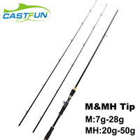 Free Shipping 2 Tips M MH 2 4m 7 9 Baitcasting Rod 30T High Carbon Bait