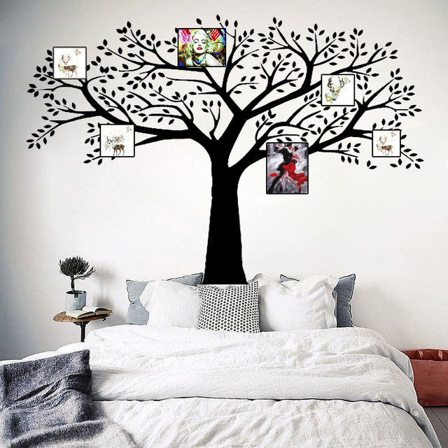 B16 Family Tree Wall Decals Vinyl Wall Decal Photo Frame Tree