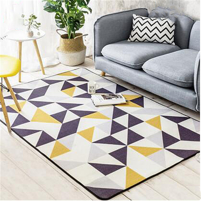 Nordic Style Modern Nylon Soft Delicate Large Carpets For Living Room Bedroom  Rugs Home Carpet Area
