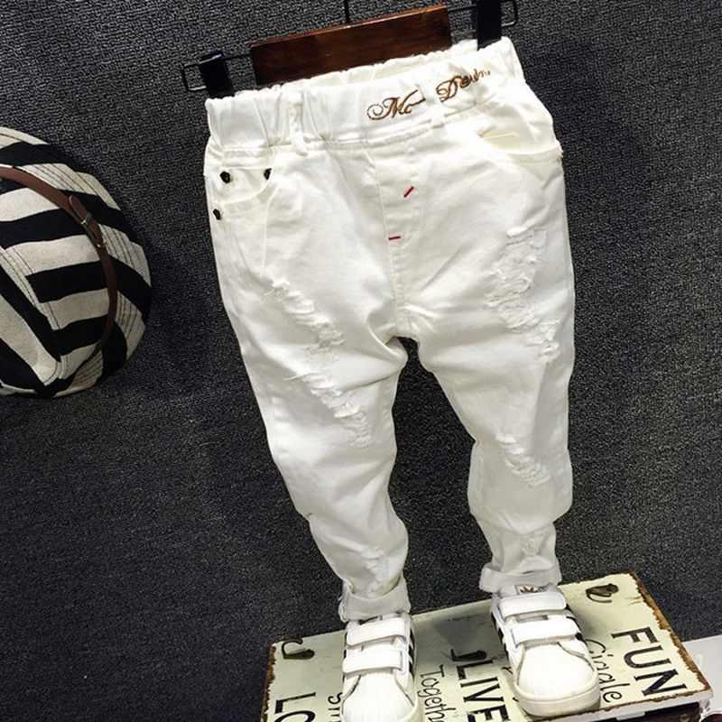 ac3fe032 Весна 2019, новые модные детские штаны, одежда для мальчиков и девочек,  Белые Повседневные
