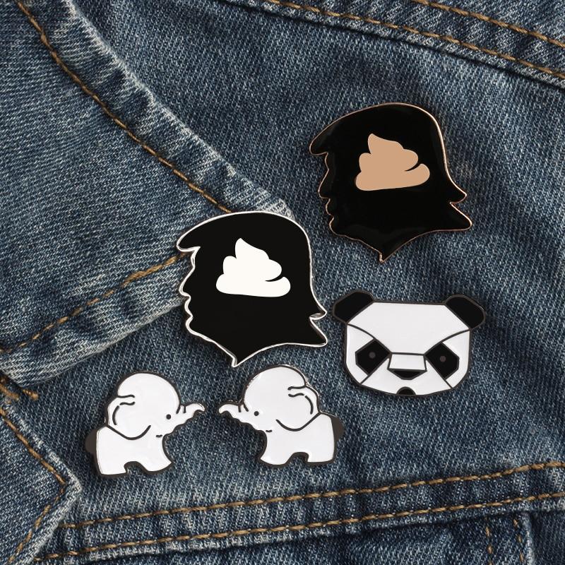 Lovely Cartoon Enamel Kids Gift Brooch Pin Collar Badge Fashion Jewelry