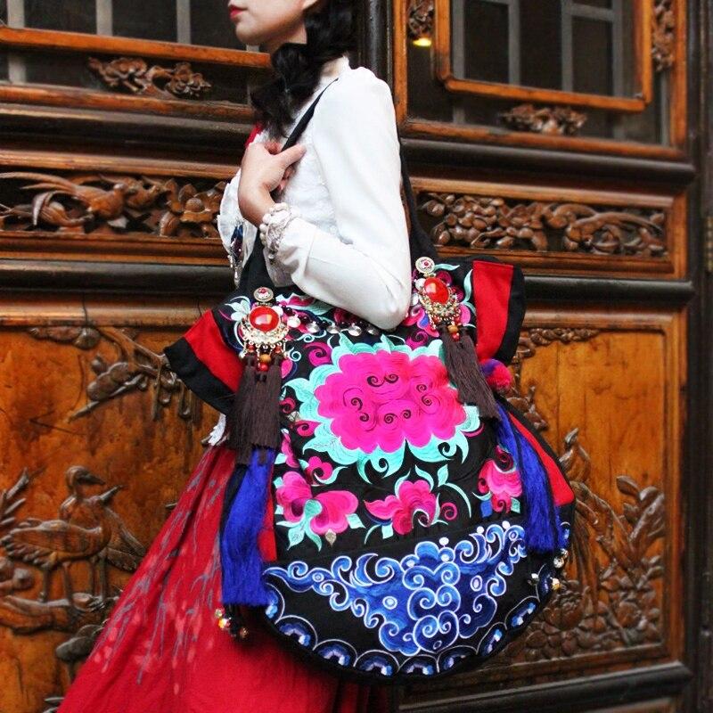 Najnovije vezenje platno žene torbe Etničke ručne tassel lagre - Torbe - Foto 4