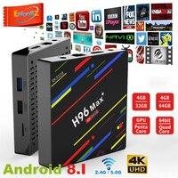 EStgoSZ H96 MAX плюс Android 8,1 smart ТВ Box 4 Гб Оперативная память 64 Гб Встроенная память Декодер каналов кабельного телевидения RK3328 2,4 г/5G Wi-Fi 4 K H.265 4 GB 32 GB ...